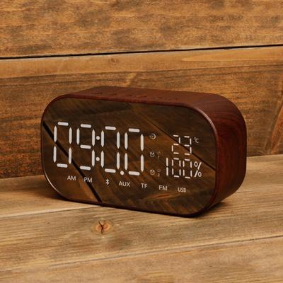 LED 거울 알람 시계 라디오 블루투스 스피커 SNP-W8