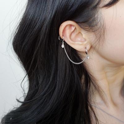 써지컬스틸 반짝심플투핀 귀걸이.귀찌