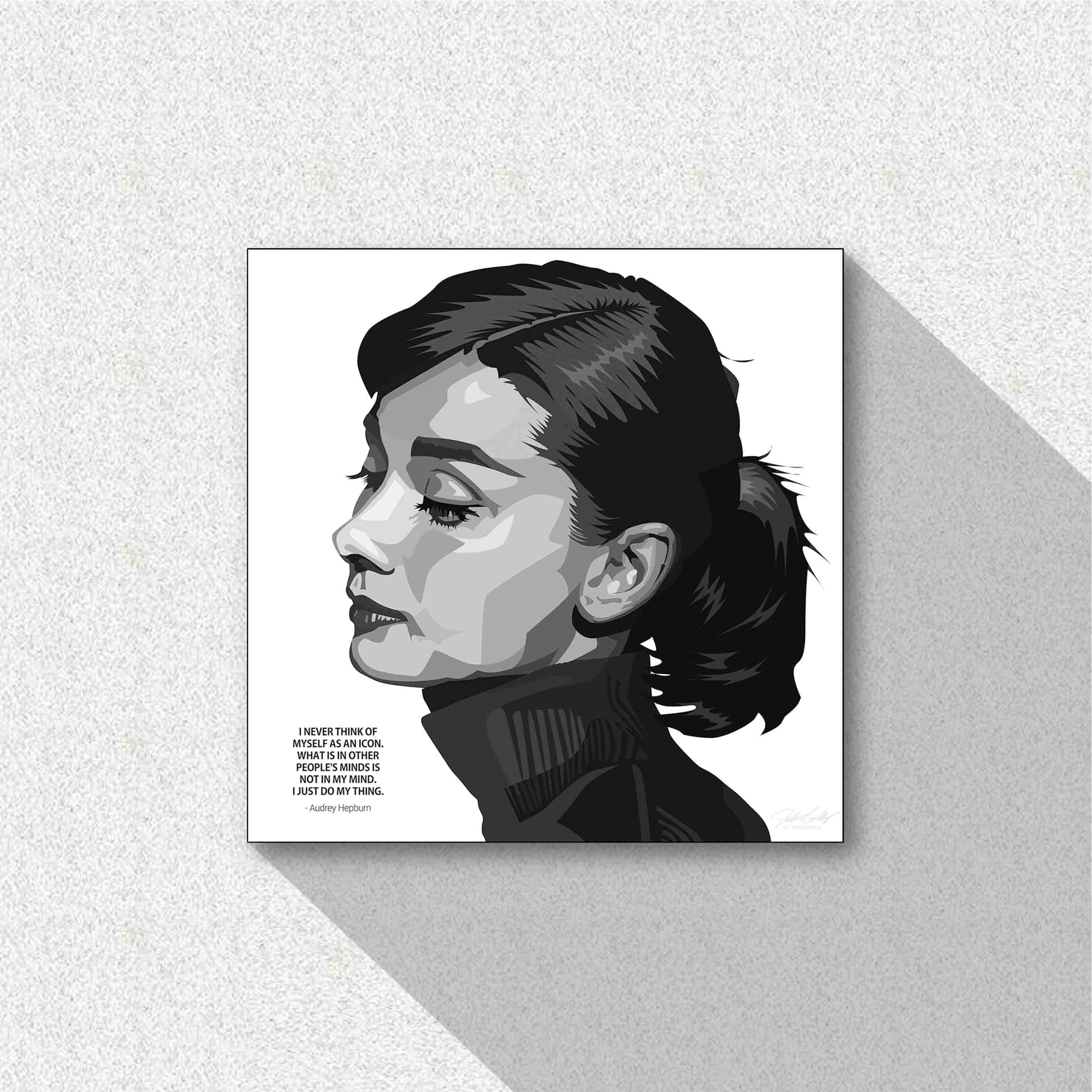 셀럽 팝아트 명언 액자 - 오드리 햅번 (100 cm) - 타이탄갤러리, 285,000원, 홈갤러리, 팝아트