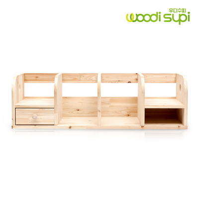 삼나무 서랍형 수납정리 원목 책꽂이 대형