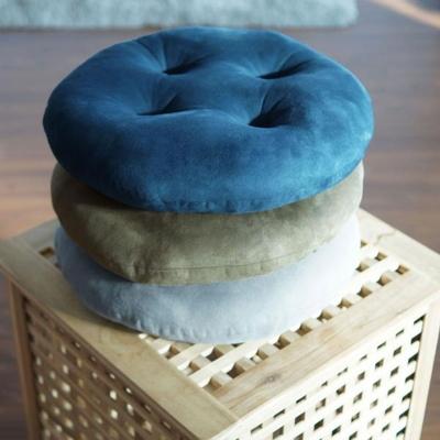 하라홈 빵빵이 스웨이드 원형 모찌 방석