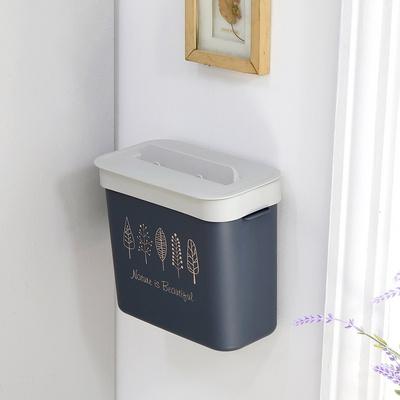 위즈홈 미니모 벽걸이 부착형 휴지통 화장실 쓰레기통