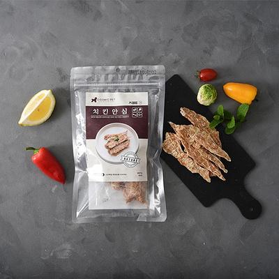 코스믹펫 강아지 수제간식 치킨안심육포 70g