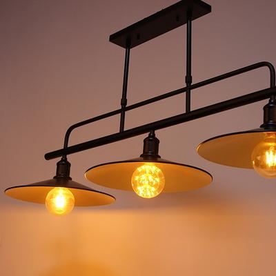 카페조명 시크블랙3등 LED에디슨G95전구포함