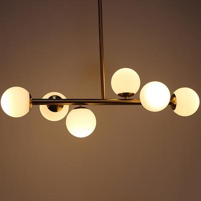 식탁등 그레이스골드6등 LED전구포함 인테리조명