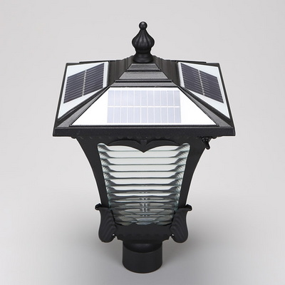 LED 태양광 정원등 가든 지붕원통형 주광색 블랙