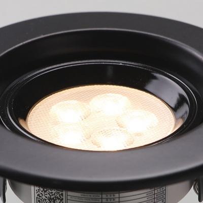 MR-16 LED 일체형 계단형 5W 블랙 전구색 LED매입등 다운라이트