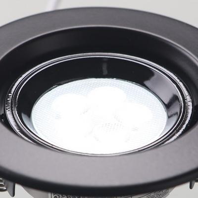 MR-16 LED 일체형 계단형 5W 블랙 주광색 LED다운라이트 매입등