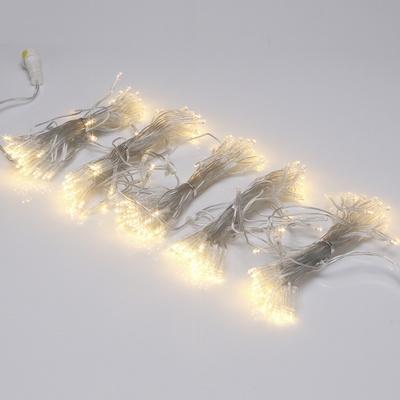LED 트리구 300구 연결형 투명선 전구색 IS