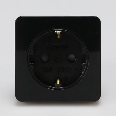 매입콘센트 정사각 1구 블랙 일신전기