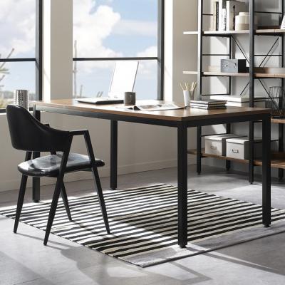 [리빙스케치]루키 1500 테이블 블랙 철제책상 티테이블 다용도테이블