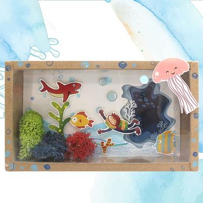 바다탐험-크라프트액자