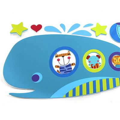 EVA점착식 아이방 꾸미기 데코 스티커-고래