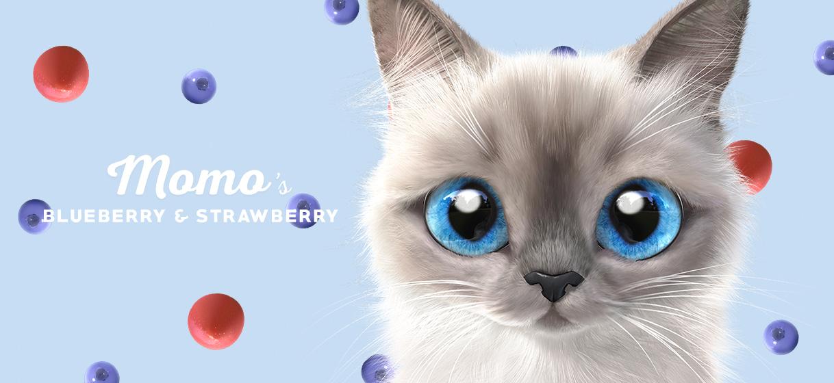 모모의 블루베리스트로베리 토트백 - 슈가캣 캔디도기, 20,800원, 캔버스/에코백, 일러스트캔버스백