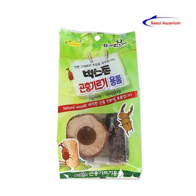 벅스존 내츄럴 천연 놀이목 먹이접시 세트 곤충용품