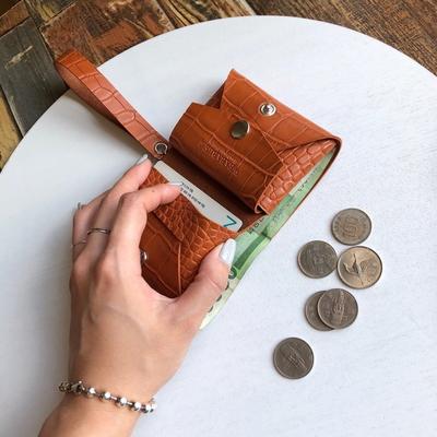 웨어러블J -파이톤 미니멀티지갑 카드 동전 지폐 지갑