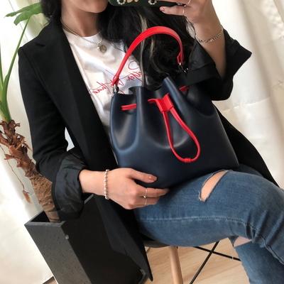 웨어러블J- 투톤 폴드백 여성 버킷백 데일리숄더백 (3color)