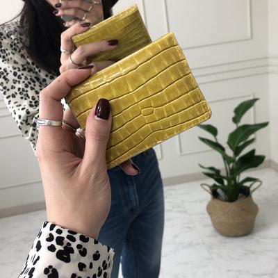 웨어러블 - 쉴랜 미니 카드지갑 크로커 커플 남여공용 지갑