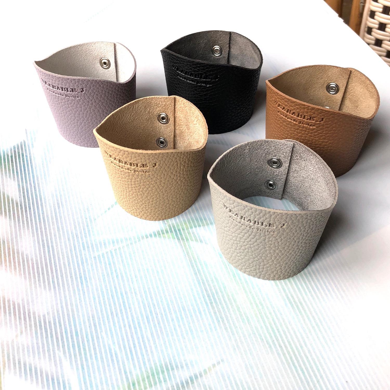 웨어러블J - 인조가죽 컵홀더 핸드메이드 - 웨어러블J, 5,000원, 컵받침/뚜껑/홀더, 컵홀더