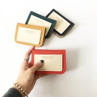 웨어러블J - 밀트 반지갑 카드지갑  (4color)