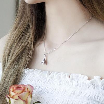 [디유아모르] 18k 목걸이 화이트에펠 네크리스