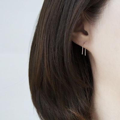 [주문제작] 디유아모르  14k 귀걸이 티니 드롭 이어링