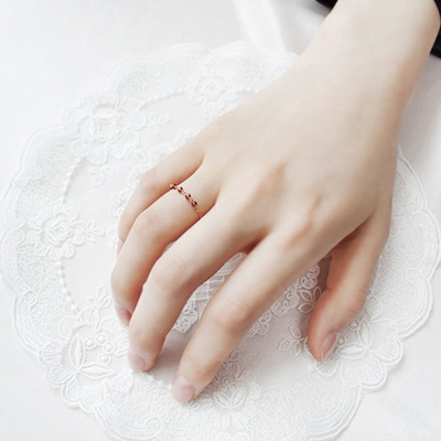 18k 반지 원석 체인 링