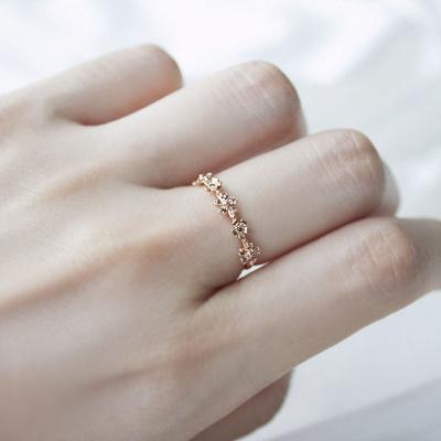 [주문제작] 디유아모르 18k 반지 플라워댄스링
