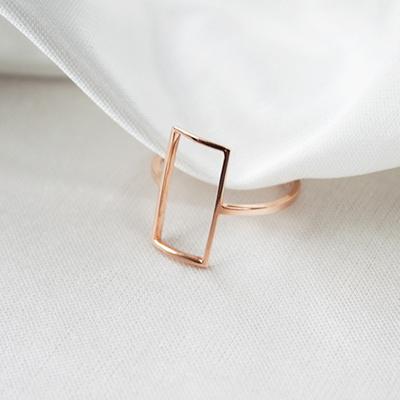 [주문제작] 디유아모르 18k 반지 심플렉탱글 링