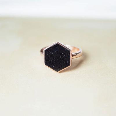 [주문제작] 디유아모르 18k 반지 헥사유니버스 링