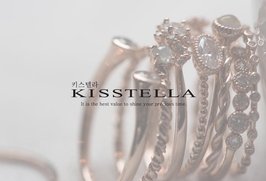 [주문제작] 14k18k 그레이톤 러프다이아 반지 - 키스텔라, 181,000원, 골드, 14K/18K