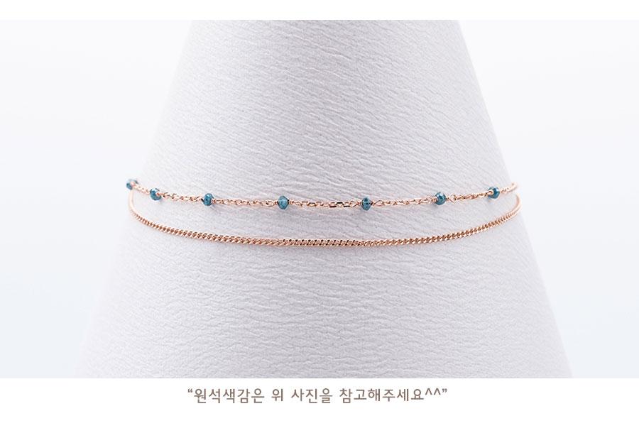 14k 18k 천연다이아 청러프 두줄목걸이 - 키스텔라, 340,000원, 골드, 14K/18K