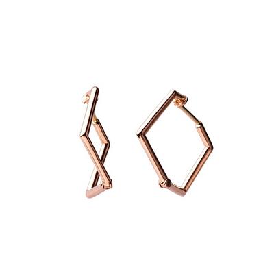 [주문제작]14k18k 지그재그 꼬임 링 귀걸이