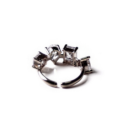 서브다이아 4형 반지 - 블랙