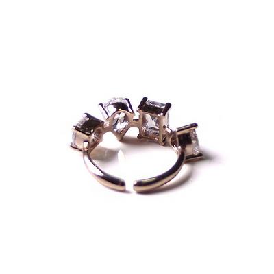 서브다이아 4형 반지 - 골드