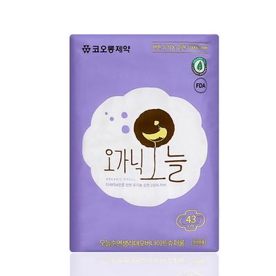 코오롱제약 천연 유기농생리대 오가닉오늘 오버나이트 슈퍼롱 6P