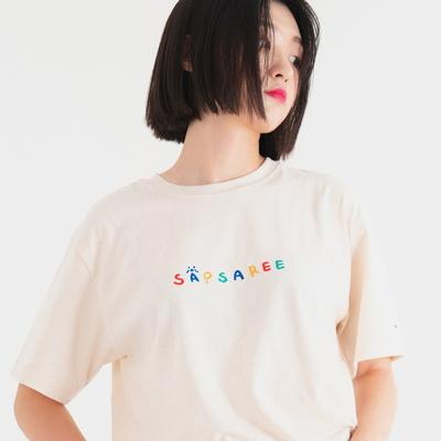 우리삽사리 반팔 티셔츠 크림