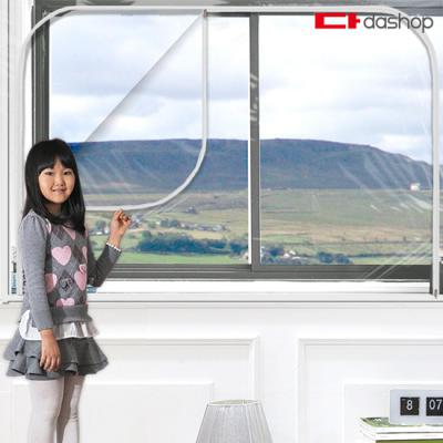 다샵 창문형 지퍼식 방풍비닐 EVA 투명 300x165
