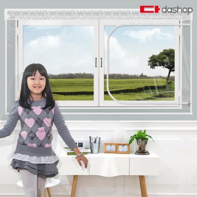 다샵 창문형 지퍼식 방풍비닐 투명 150x120