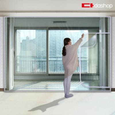 다샵 베란다형 지퍼식 방풍비닐 투명 350x190