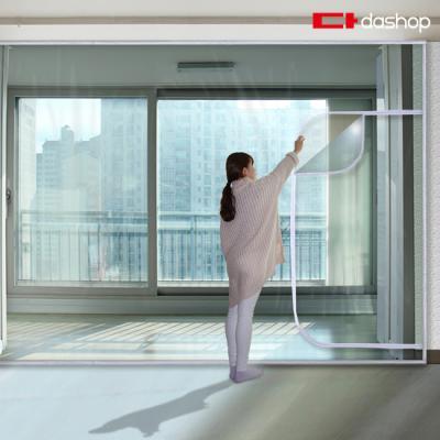 다샵 베란다형 지퍼식 방풍비닐 투명 350x250