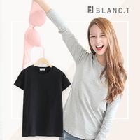 블랑티 속옷이 필요없는 반팔 티셔츠 블랙