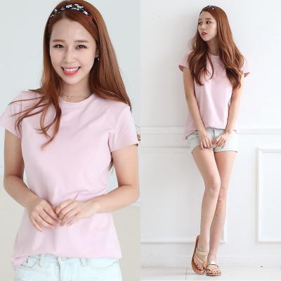 블랑티 속옷이 필요없는 반팔 티셔츠 핑크