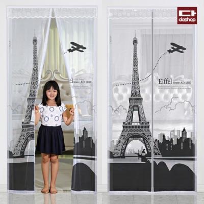 다샵 현관 방문 모기장 에펠탑 100x210