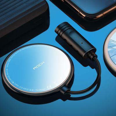 핸드폰 흡착식 고속 무선 충전기 급속 충전패드 블랙