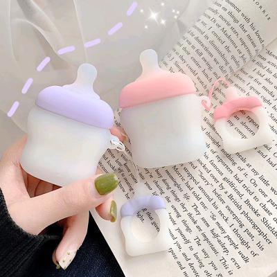 에어팟2세대 베이비 보틀 젖병 캐릭터 실리콘케이스 핑거링 고리줄 키링세트