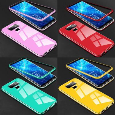 갤럭시S10 5G/S10E/S10/S10플러스/강화유리 마그네틱 유광 하드 휴대폰 케이스