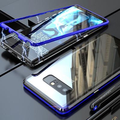 갤럭시S10/S10E/S10플러스/S10 5G/투명 강화유리 메탈 마그네틱 풀커버 케이스