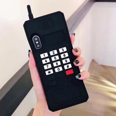 아이폰XR XS MAX 7 7+ 8 8플러스/레트로 무선 전화기 실리콘 핸드폰 케이스