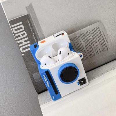에어팟 1 2세대 차이팟 귀여운 아날로그 카메라 디자인 입체 실리콘 케이스 이어폰 악세사리